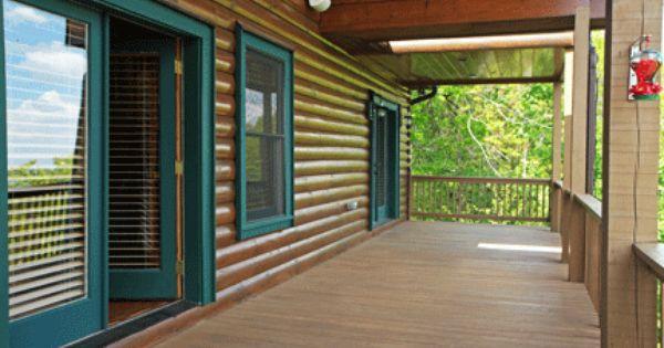 Color Of Window Trim Log Cabin Fever Pinterest