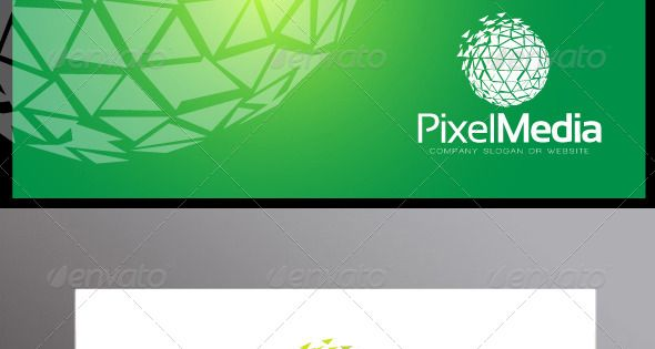 Pixel Media Logo Template – 3d Abstract – suitable for technology and media company