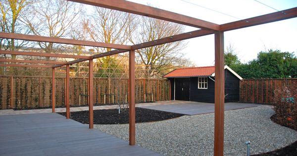 Pergola 39 s van veen tuinontwerpen maatwerk douglas hout hardhout tuinontwerp hovenier tuinaanleg - Tent tuin pergola ...