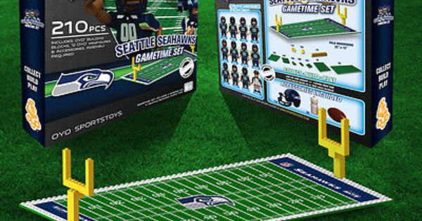 Seattle Seahawks Oyo Game Time Set 210 Pcs 12 Figures Nfl Football Lego Compat Seahawks Game Time Team Games San Francisco 49ers Nfl