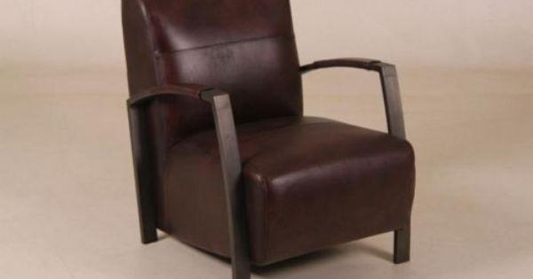 Sessel 778 Material Leder Dunkelbraun Sessel Industrial Mobel Sitzgelegenheiten