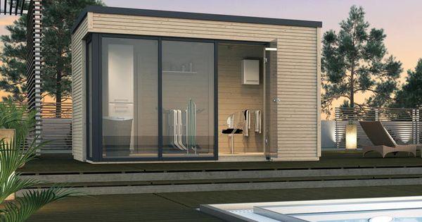 gartenhaus weka cubilis flachdach haus mit gro er fenster glasfront ideales poolhaus ideen. Black Bedroom Furniture Sets. Home Design Ideas