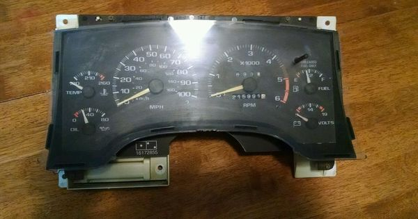 1995 1996 1997 Chevy S10 Gmc Sonoma Instrument Gauge