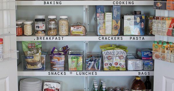 Organizing A Simple Pantry  정리, 작은 부엌 및 정리 아이디어