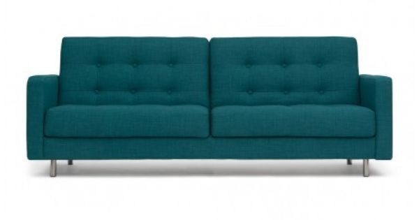 Fine Eden Sofa Bed In Teal 449 From Structube Us Structube Com Creativecarmelina Interior Chair Design Creativecarmelinacom