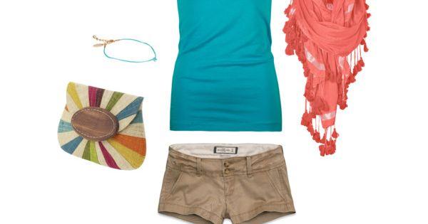 Aqua and Coral Summer :)