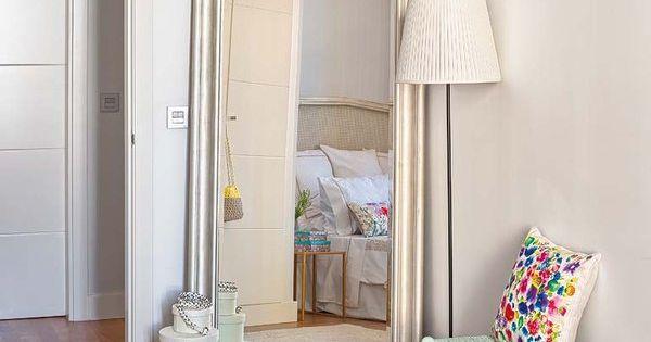 Espejos de suelo para el vestidor espejo vestidor y for A que altura colgar un espejo de cuerpo entero