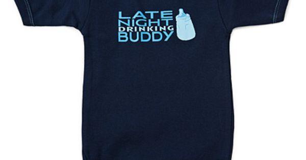Late night drinking buddy onsie