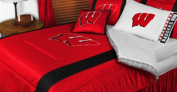 Wisconsin Badgers Bedroom Set Ooooooh Spare Bedroom Badgers Packers Pinterest Colors