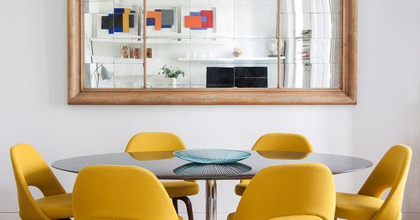 A mesa puesta ad espa a adriana merlo batavia en el for Sillas comedor amarillas