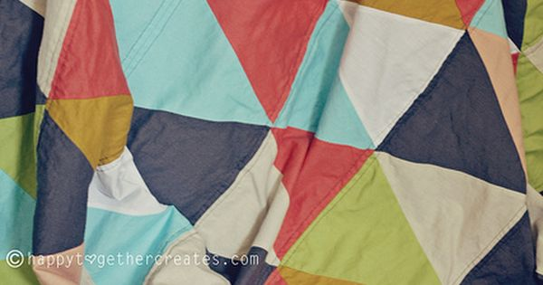 triangle quilt tutorial. Love color combo