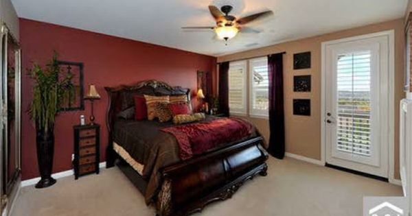 Red Wall Master Bedroom