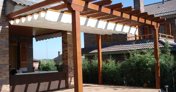 P rgolas de madera ideas para el hogar pinterest - Pergolas de madera para terrazas ...