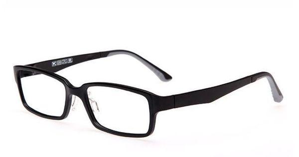 Matte Black Lightweight Plastic Rectangle Glasses Frame ...