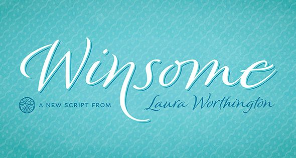 Winsome offers virtually endless variety, in a friendly script face that balances the casual with the calligraphic.