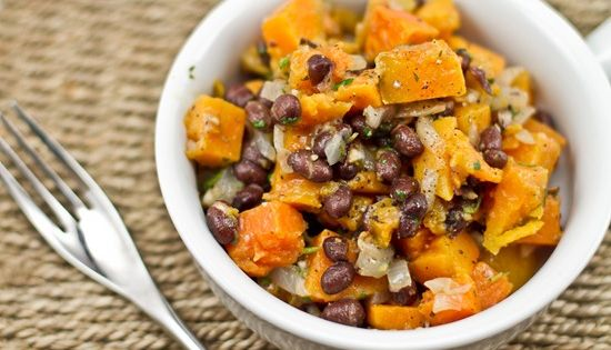 roasted sweet potato and black bean warm salad - one of my absolute ...