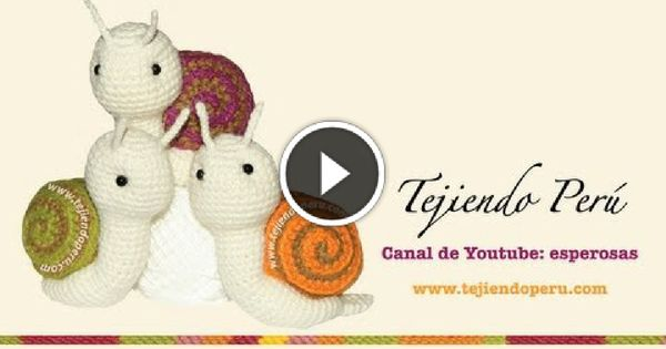 Tutorial Caracol Amigurumi Snail : Tutorial video lumachina lumaca alluncinetto amigurumi ...
