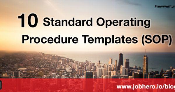 10 Standard Operating Procedure Templates (SOP) Standard - procedure templates