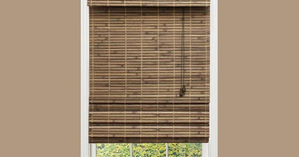 Home Decorators Collection Driftwood Flatweave Bamboo Roman Shade 34 In W X 72 In L Home