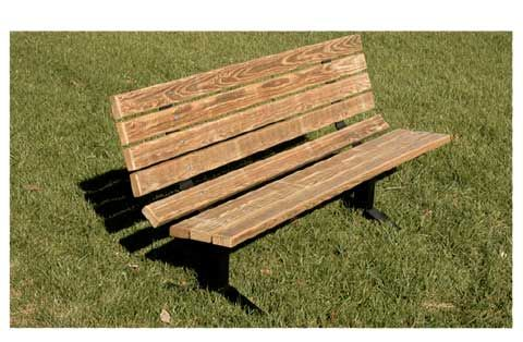 Phenomenal Pressure Treated Wood Steel Outdoor Park Bench 8 L Spiritservingveterans Wood Chair Design Ideas Spiritservingveteransorg