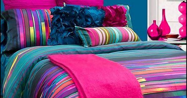 turquoise and black Teen comforter | ... teen girls bedding - fashion