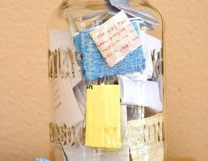 I like this idea. Start the year with an empty jar and
