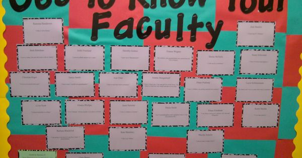 Classroom Bulletin Board Ideas High School ~ September bulletin board fun facts about faculty in your