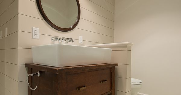 Upcycled bathroom vanity. Light from Barn Light Electric. Dash Landing Pinterest Bathroom ...