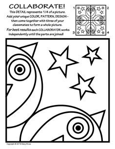 Radial Symmetry Collaborative Activity Coloring Pages Boyama