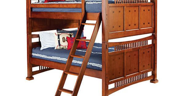 Double Over Double Mission Oak Bunk Bed Bedroom Furniture Stores