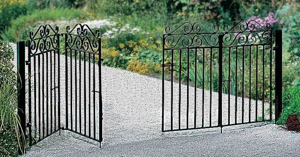 Marlborough Bi Fold Wrought Iron Metal Driveway Gates