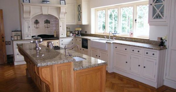 Kitchen Island With Raised Bar Combination Of Painted