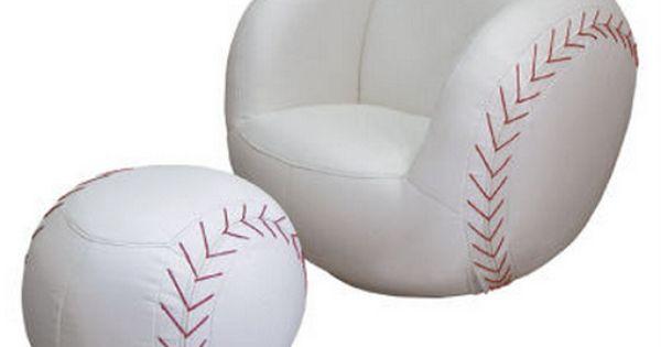 Baseball-chair & foot stool | Baseball | Pinterest | Foot ...