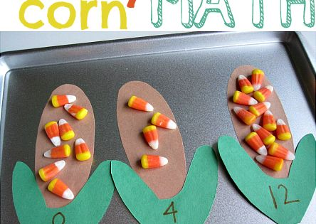 Math Center littlehandsbigplans CandyCorn ThanksgivingCrafts