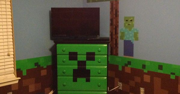 Minecraft bedroom Minecraft Creeper chest of drawers with ...