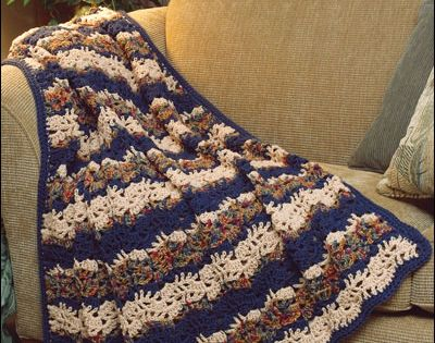 Crochet Afghan Amp Throw Patterns Popcorn Ripple