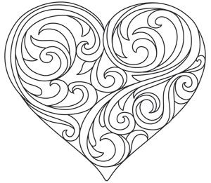 Baroque Natura Heart Heart Coloring Pages Embroidery Heart Pattern Coloring Pages