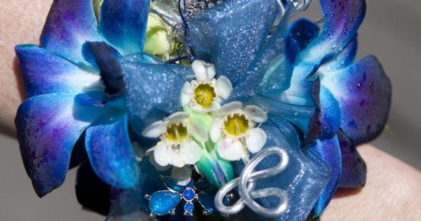 Blue Orchids Blue Purple Tie Dye Orchid Corsage Rachel