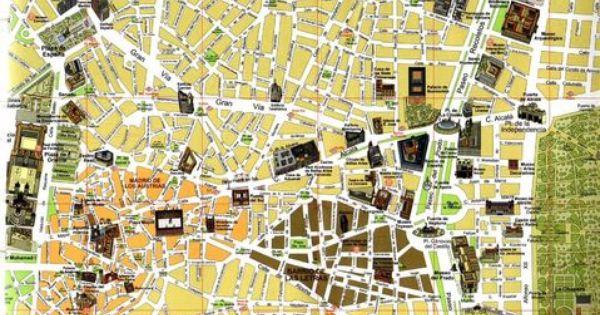 Mapa tur stico de madrid ilust madrid clinica - Centros de jardineria madrid ...