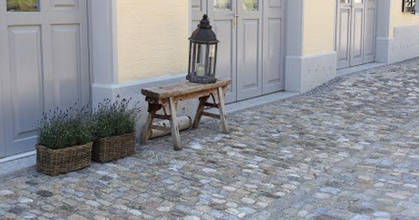 Gartenideen Gartengestaltung Kopfsteinpflaster Garten Deko