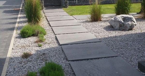 Garten garten pinterest g rten au enanlagen und for Graue steine vorgarten