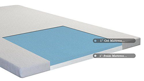 Spring Coil Gel Infused High Density Foam Mattress Topper With Removable Cover King 2 High Density Foam Mattress Foam Mattress Topper Memory Foam Mattress