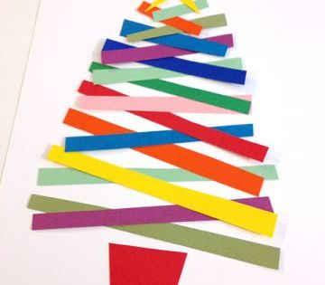 Paper Christmas Tree Craft Ziggity Zoom Family Diy Paper Christmas Tree Christmas Tree Crafts Diy Christmas Cards