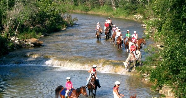 Riding Fall Creek At Camp Fire S Camp El Tesoro In Granbury Texas Camp Fire Camp El