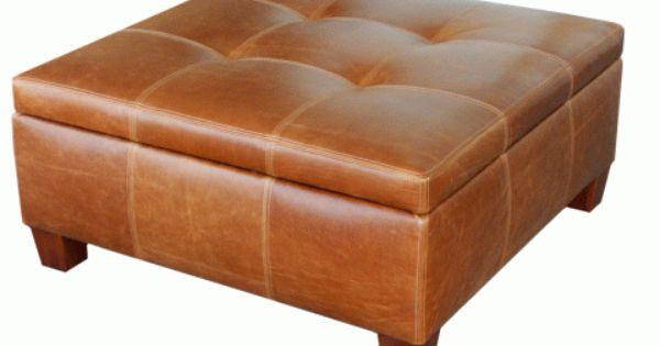 Harvey Katz Leather Storage Ottoman Leather Storage Ottoman Storage Ottoman Ottoman