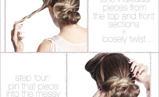 """LAUREN CONRAD HAIR STYLE: """"Twisted Sister"""": A cute updo that looks great"""