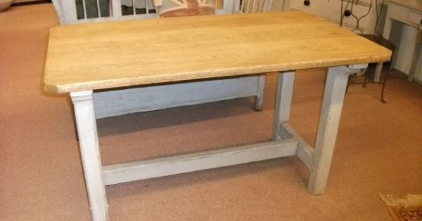 old table with painted base dining table inspiration pinterest. Black Bedroom Furniture Sets. Home Design Ideas