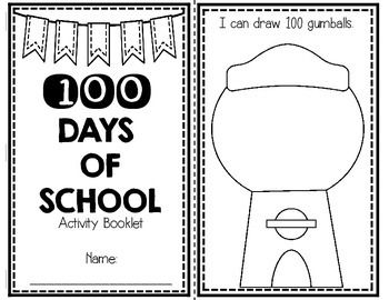 This Is A Mini Activity Booklet To Help You And Your Kids Celebrate The 100th Day Of School Students Can Practice C 100 Days Of School 100th Day I Love School