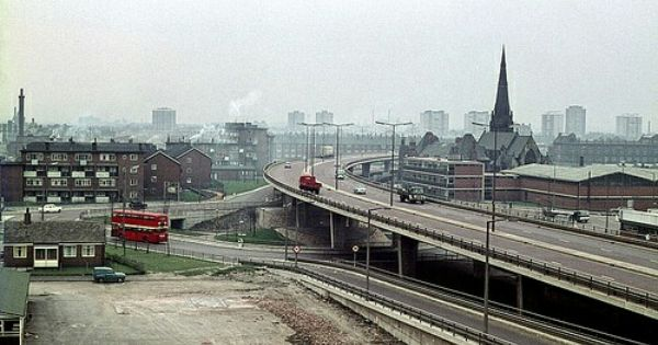 Mancunian Way C 1968 Manchester Manchester England Manchester Uk