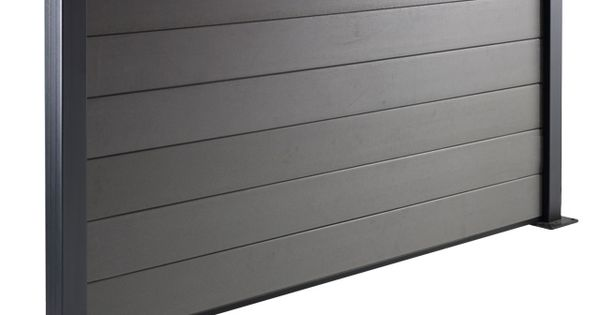 lot de 3 lames en composite idaho anthracite castorama int rieurs interiors pinterest. Black Bedroom Furniture Sets. Home Design Ideas